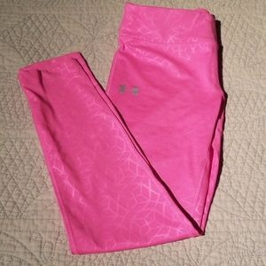 Pink Under Armour girls leggings NWT